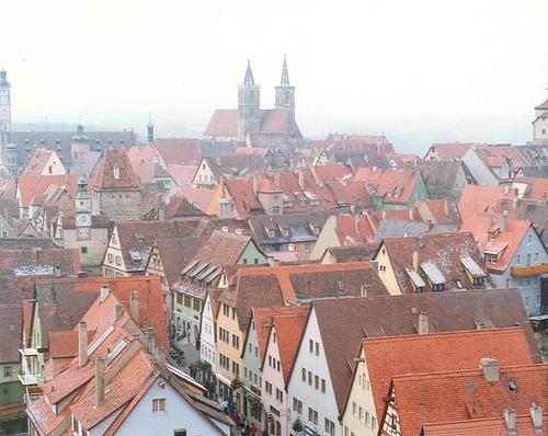 Rothenburg ob der Tauber Aerial View, photo by Jennifer Boyer
