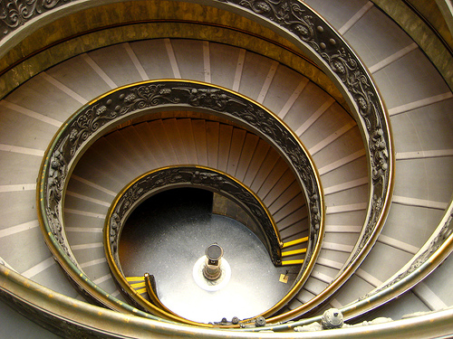 Vatican Museum Spiral Staircase, photo by Brian Jeffery Beggerly