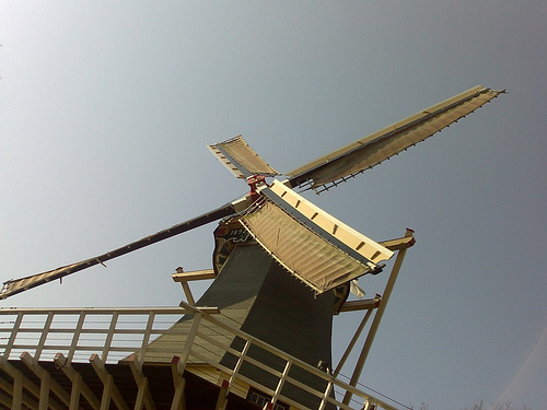 Windmill at Keukenhof, Amsterdam, Netherlands , photo by Esme Vos