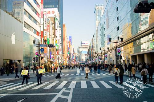 Pedestrian on Chuo Dori street in Ginza
