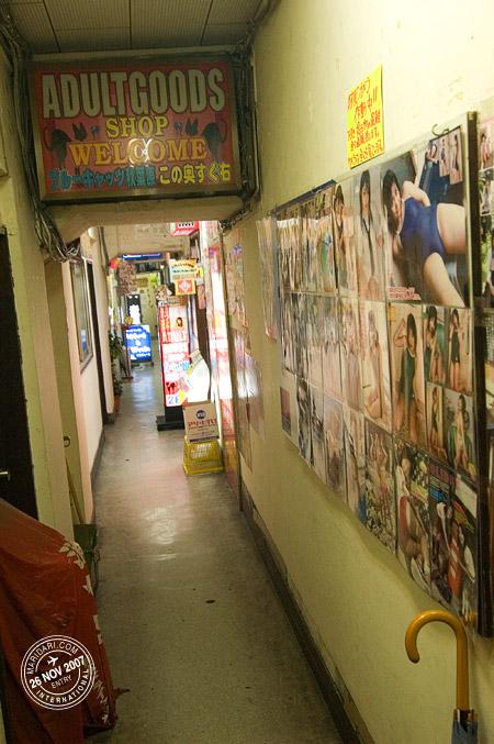 Akihabara adult shop corridor