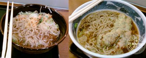 JR Akihabara Station food court Soba noodles