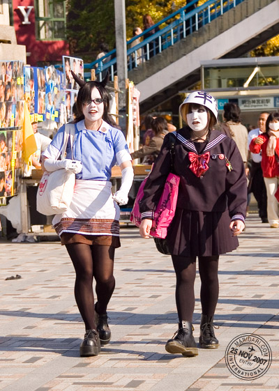 Harajuku White Kabuki Face Girls
