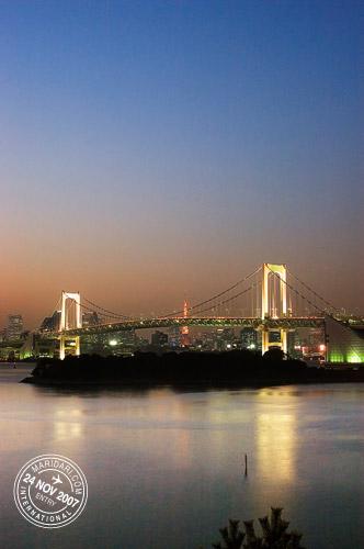 Odaiba Rainbow Bridge Night